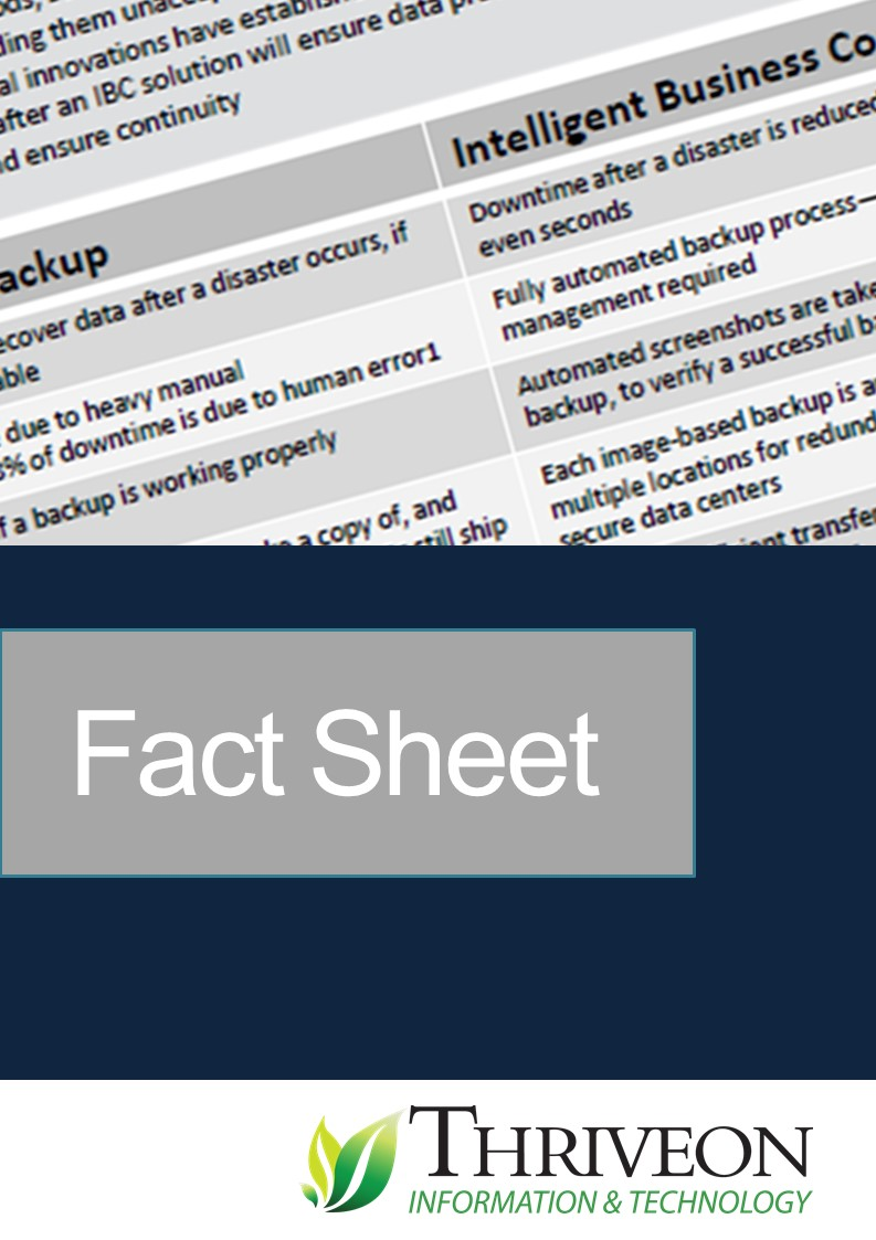 Fact Sheet Backup vs. Business Continuity