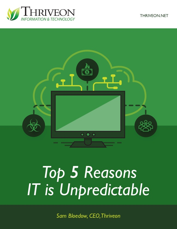 Get the free E-Book Top 5 Reasons IT is Unpredictable